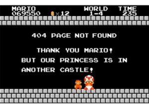 Erreur 404 page Mario