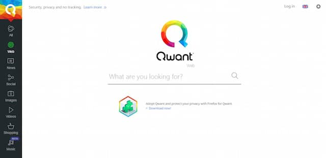 Moteur de recherche français : Qwant