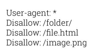 Le format du fichier robots.txt