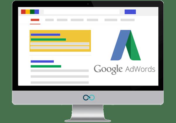 Annonces sponsorisées - Google adwords