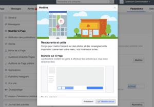 Exemple de modèle de page Facebook pro